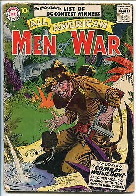 ALL-AMERICAN MEN OF WAR #45-1957-WWII-DC-SILVER AGE-BATTLE COVER-good