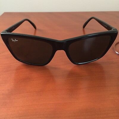 370017ea42 ... vintage bausch lomb ray ban gloss black glass cats sunglasses france  frame