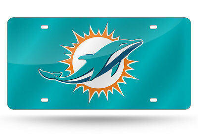 Miami Dolphins Custom Mirror License Plate - Auto Tag - Vanity Plate
