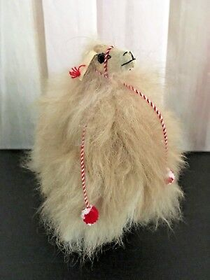 Vintage Llama - Real Fur - Hand Crafted - Perfect!