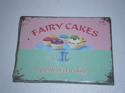 Magnet - Nostalgic Art - Home und Country Fairy Cakes - Fresh every Day - 8 x 6