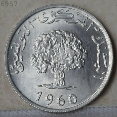 """1960 Tunisia 5 Millimes """"Gem BU"""" *Free S/H After 1st Item*"""