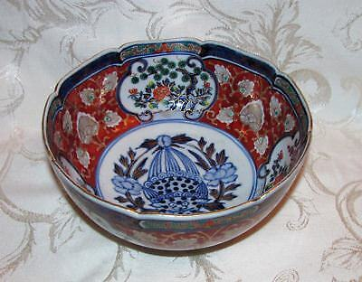 Antique Japanese Imari Bowl Meiji Circa 1880