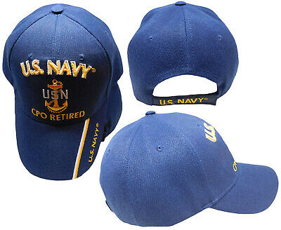 2ccc93aecaf U.S. Navy CPO Retired USN Ball Cap Hat Embroidered 3D (Licensed) TOPW