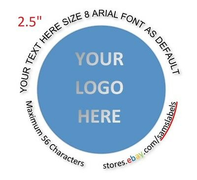 "2 1/2"" Stickers Custom Labels Personalized Round Tag Envelope Seal product"