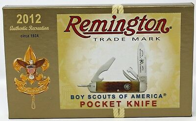 Remington Boy Scout Knife 2012 Authentic Reproduction of a circa 1934 BSA Knife