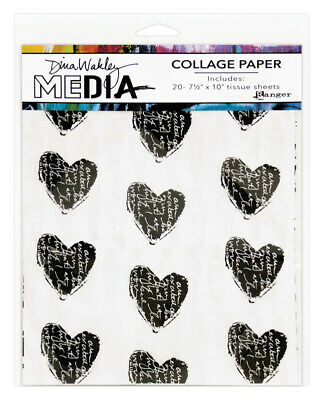 Collage Paper - Dina Wakley Media - 20 Tissue Sheets