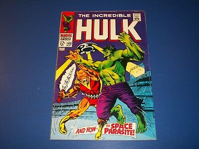 Incredible Hulk #103 Silver Age 2nd New Series Wow Fine-
