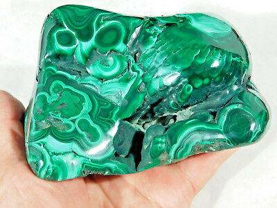 A Super Neat Pattern! On This HUGE! AAA Polished Malachite! The Congo 1291gr e