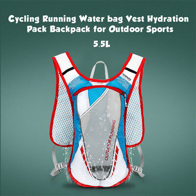 Cycling Running Water bag for Outdoor Sports Vest Hydration Pack 5.5L Backpack