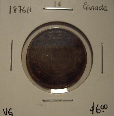Canada Victoria 1876H Large Cent - VG