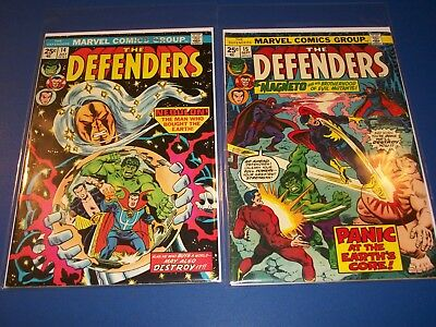 Defenders #14,15 Bronze Age Lot of 2 Magneto Wow