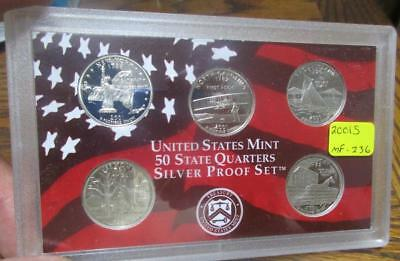 2001S United States 50 State Silver UC Quarters Only Proof Set.    #MF-236
