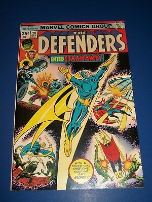 Defenders #28 Bronze age 1st Starhawk Key Guardians of the Galaxy VF Beauty