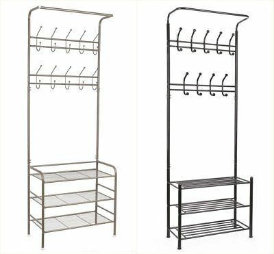 Metal Coat Hat Bag Clothes cloth Shoe Rack Stand Shelf Garment Hanger Hook Unit
