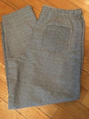 NEW Fame Chef Pants SIZE 2XL Baggies - Houndstooth Black and White Checked