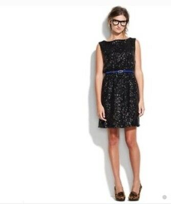 Nwt Madewell Black Sequin Dress By Broadway Broome Size 6 5499