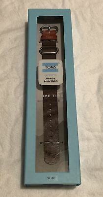 New TOMS Woven Apple Watch Band 38mm Olive Green FREE SHIPPING!