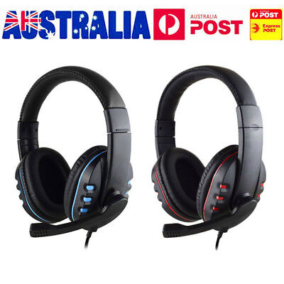 AU Wired Gaming Stereo Surround Headset for PS4 Playstation 4 Game Sound Chat