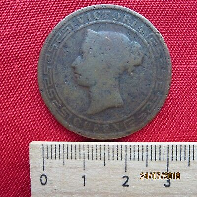 Ceylon - 5 Five Cents 1890 - Queen Victoria - I