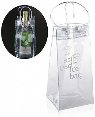 Ice Bag - Nuolux Clear Transparent PVC Champagne Wine Pouch Cooler Bag with