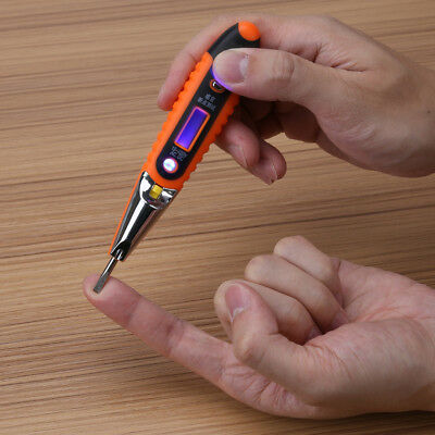 12-220V AC/DC Voltage Tester Pencil Digital LCD Test Pen Home Volt Detector Tool