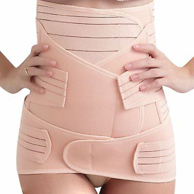 Postpartum Support Belt Post Pregnancy Birth Recovery Belly Wrap Band 3 in 1 XL