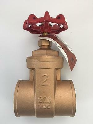 Brass Gate Valve LDR # 200 WOG Sweat 2""