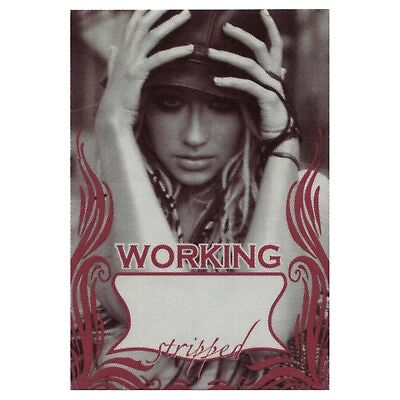 Christina Aguilera authentic Working 2003 tour Backstage Pass