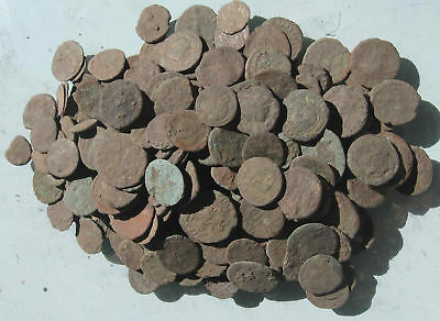 Lot of 30 Uncleaned and Unresearched Roman Bronze Coins. AE2-AE4. Price per 30it