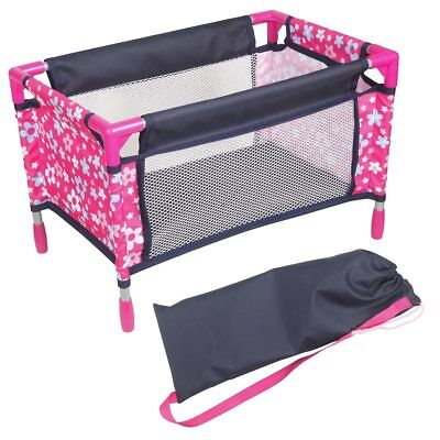 Dolls Travel Cot AMIA incl. Carry Bag for Dolls Size 36-44 cm NEW