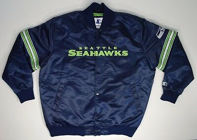 048fab854 Men s Starter NFL Seattle Seahawks Satin Quilted Jacket Size 3XL - Looks  Great!