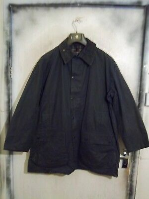 Vintage Man's Barbour Border Waxed Jacket Size C46 117Cm