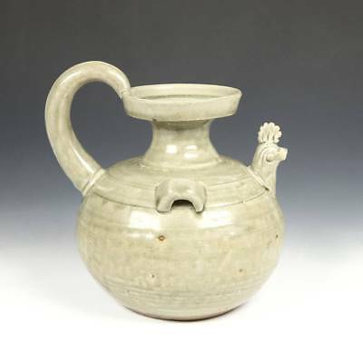 Antique Chinese Pitcher Glazed Pottery Ceramics Chicken Spout China 19Th C.