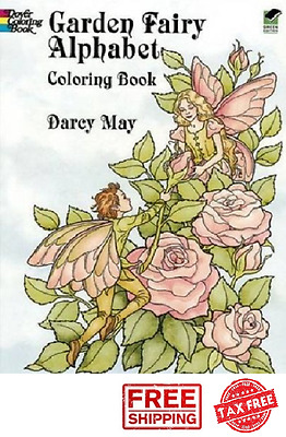 DOVER COLORING BOOK for Adults Teens Garden Fairy Alphabet Painting ...