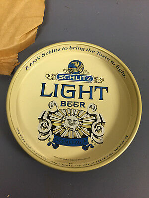 Vintage Schlitz Light Beer Serving Tray,1976,New Old Stock.Unused
