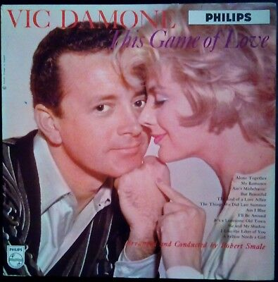 """""""THIS GAME OF LOVE"""" by Vic Damone Mono LP Vinyl Record 1959 VG+/VG+"""