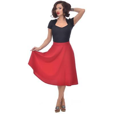 Rock Steady Waist Thrills Skirt Red SMALL RS73552X Vintage Retro