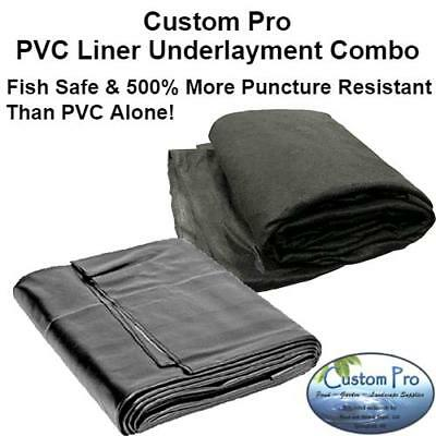 COMBO KIT -PVC Liner & Protective Underlayment 15x15'-for Ponds & Water Gardens