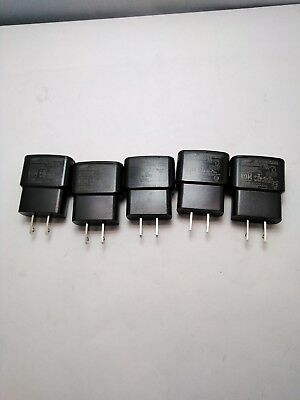 LOT OF 5 Genuine Samsung ETA0U61JWE Standard Travel Charger white 5V 1A black