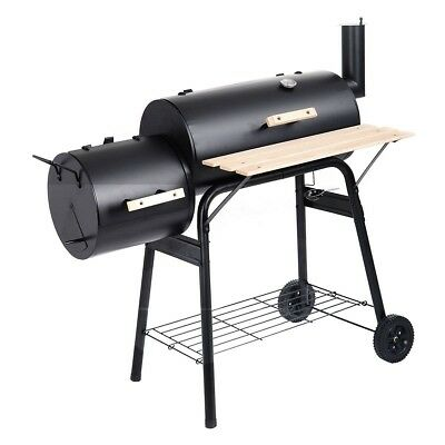 Costway Outdoor BBQ Grill Charcoal Barbecue Pit Patio Backyard Meat Cooker Smoke