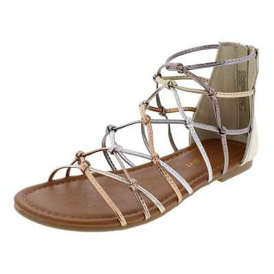 Madden Girl by Steve Madden Girls Mistic Caged Gladiator Sandals Flats BHFO 9360