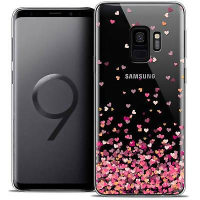 "Coque Crystal Gel Pour Samsung Galaxy S9 (5.8"") Souple Sweetie Heart Flakes"