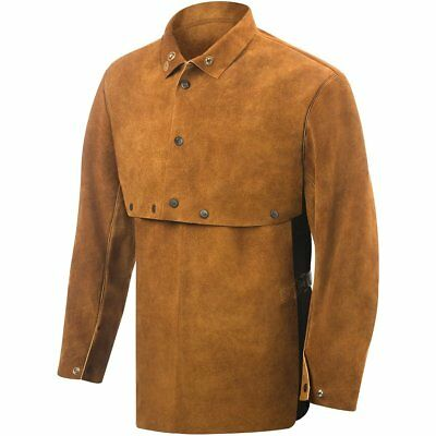 Steiner 9213-M Cape Sleeve With 19-Inch Bib, Weld-Rite Premium Brown Split