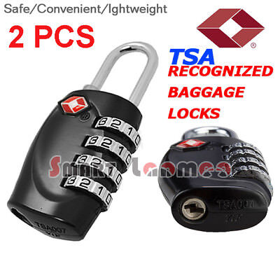 2X TSA Approved 4 Digit Travel Luggage Pad Lock Security Suitcase Combination