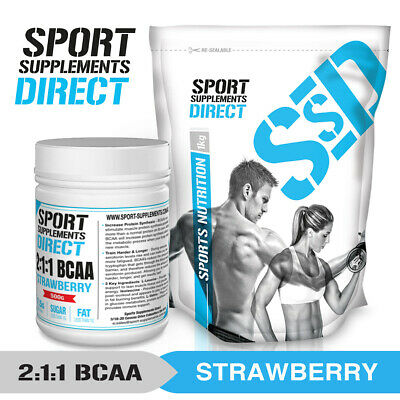 Strawberry Bcaa 2:1:1 - Flavoured Branched Chain Amino Acid 100G - 500G - 1Kg