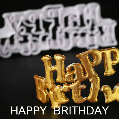 Happy Birthday Cookie Cutter Fondant Cake Decorating Sugarcraft Baking Moulds