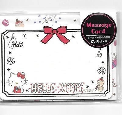 Sanrio Hello Kitty Notecards With Envelopes Stickers Message Cards Red Bow