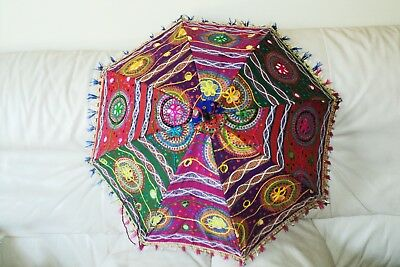 Handmade Indian Patch Work Multi-color Umbrella Hand crafted (UM-01)