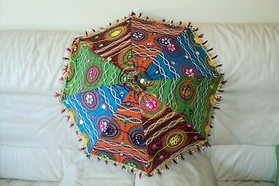 Handmade Indian Patch Work Multi-color Umbrella Hand crafted (UM-06)